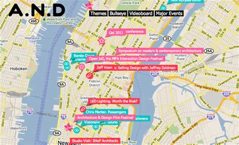 design online map an interactive map for design events designtaxi com