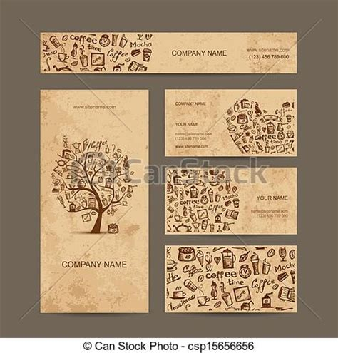 business card graphics books coffee clipart vector of business cards collection with coffee