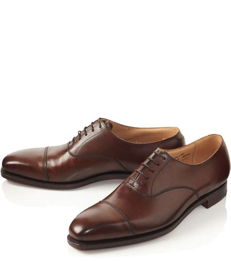 oxford sandals lyst crockett and jones brown hallam leather oxford