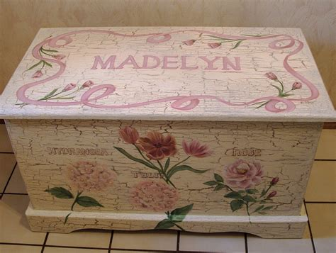 custom designed shabby chic toy chest chest done with