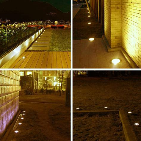 Low Voltage Patio Lighting 10x Low Voltage 12v Led Deck Light Garden Step Walkway Patio Recessed L Ip67 Ebay