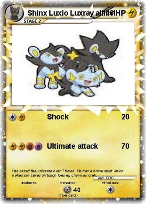 Shock Luxio Pok 233 Mon Shinx Luxio Luxray All In1 Shock My Card