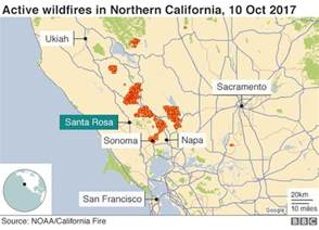 fires in california map scores missing in deadly california fires