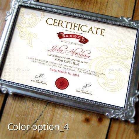 mock certificate template certificate template by designer0007 graphicriver