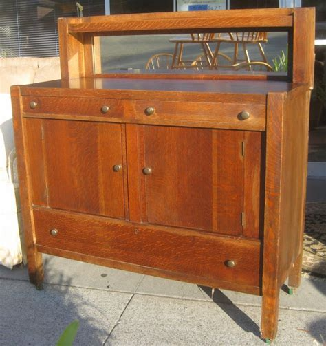 Tiger Oak Furniture by Uhuru Furniture Collectibles Sold Early 20th Century