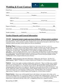 Sle Wedding Planner Contract by Wedding Coordinator Resume