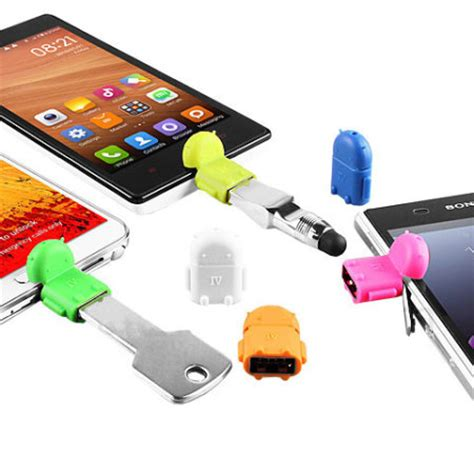 Vivan Robot Connector Konector Micro To Nokia robot microusb on the go otg adapter white mobilezap australia