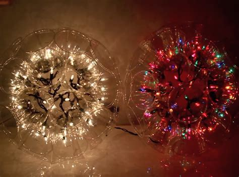 how to make a christmas light ball with plastic cups