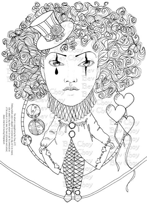 coloring pages for adults etsy adult coloring page harlequin by bevchoyart on etsy