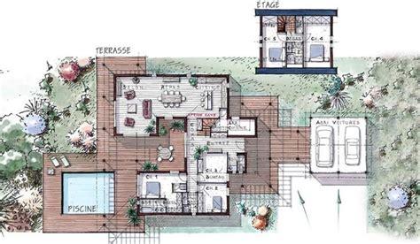 Plan Maison Plain Pied 50m2 Maison Ossature Bois Projet maison ossature bois 224 233 tage 184 m 178 5 chambres terrasse