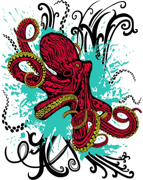 colorful octopus wallpaper colorful octopus drawings