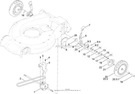 toro mower parts diagram toro 20382 recycler lawn mower 2016 sn 316000001