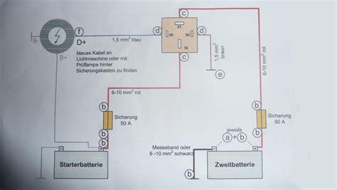 Motorrad Blinker Sicherung Brennt Durch by Trennrelais Anschlie 223 En F 252 R 2 Batterie