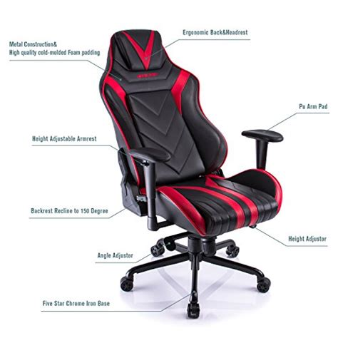 armchair back support aminiture high back racing gaming chair recliner pu