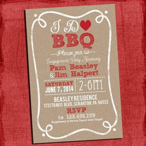 bbq themed wedding shower invitations printable rustic quot i do quot bbq barbecue couples coed wedding