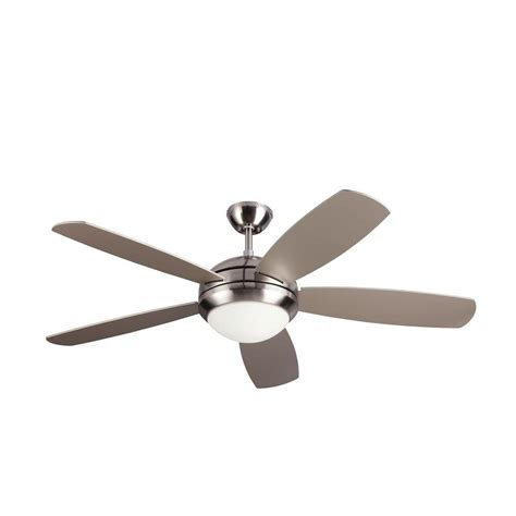 monte carlo ceiling fan monte carlo centro max 52 in brushed steel silver ceiling