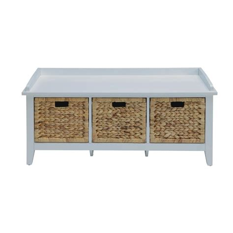 white benches with storage home decorators collection harwick antique white storage bench 7145210420 the home depot