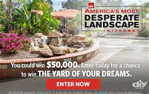 diy network america s most desperate landscape sweepstakes