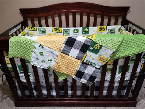 Boy Crib Bedding John Deere Tractor Farm Dbc Baby Deere Crib Bedding For Boys