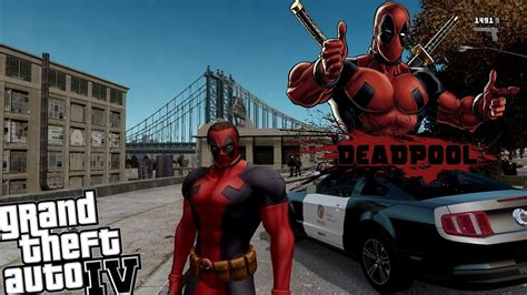 mod gta 5 deadpool gta iv lcpdfr deadpool mod police patrol the anti hero