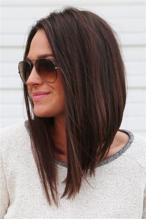 mid length hair cuts longer in front best 25 medium long haircuts ideas on pinterest long