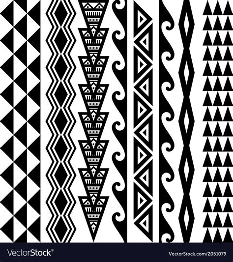 hawaiian kakau tattoo set royalty free vector image