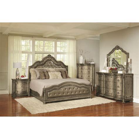 6 Bedroom Set by Traditional Platinum Gold 6 King Bedroom Set
