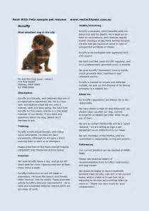 Animal Care Manager Sle Resume by Pet Resumes How They Can Help Your Veterinary Clients Rent With Pets Post