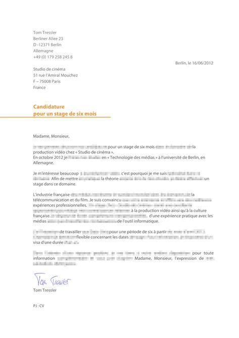 Brief Französisch Musterbrief Bewerbung Franzoesisch Muster