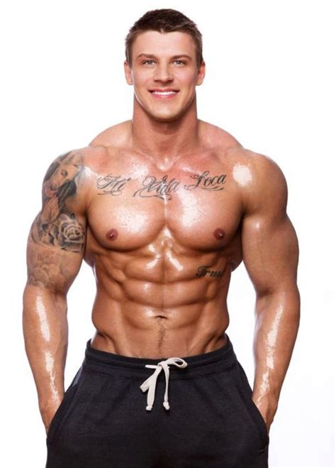 chest tattoo gym latvian born bodybuilder and fitness model gints valdmanis