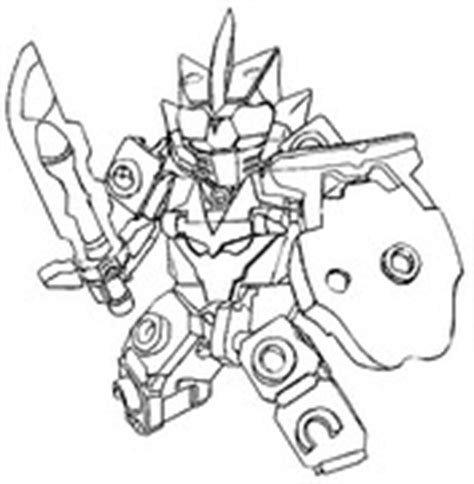Coloring Pages Tenkai Knights Drawing