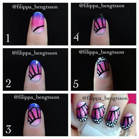 homemade nail art tutorial diy butterfly nail art tutorials