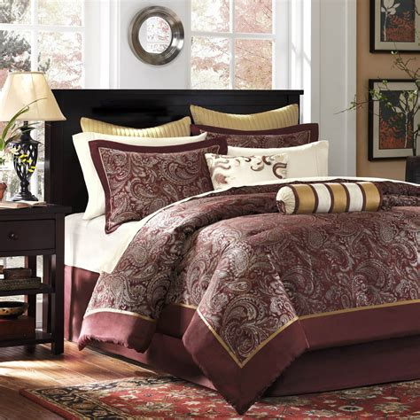 madison park aubrey 12 piece jacquard comforter set king
