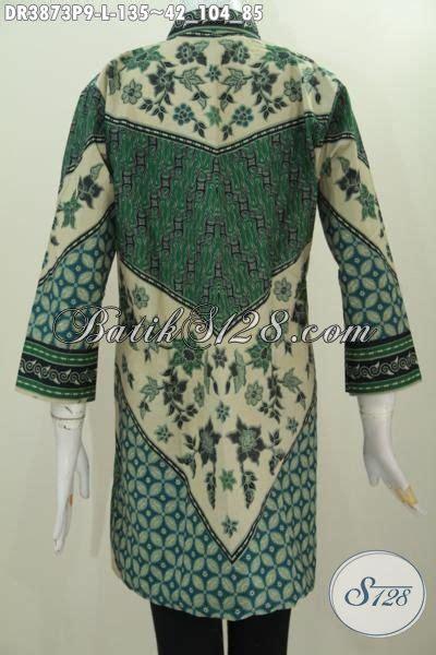 Kemeja Batik Sogan Milo motif milo batik warna hijau model kerah shangai model baju batik modern 2018