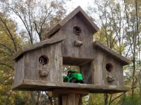 rustic reclaimed cedar birdhouse barn by swwoodcreations