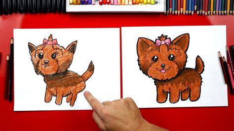 how to draw a yorkie how to draw a yorkie for hub