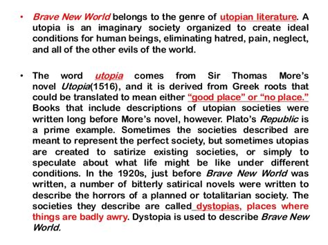 Literary Themes In Brave New World | themes in brave new world