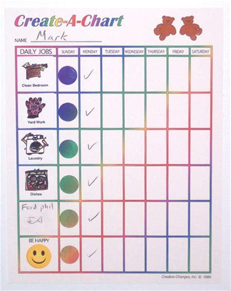 draw a chart creative changes inc chore charts kit