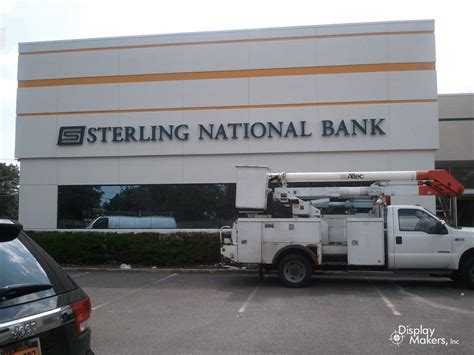 Sterling National Bank Letter Of Credit display makers inc 187 exterior channel letters