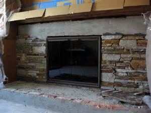 veneer fireplace refacing build with