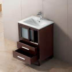 24 Inch Bathroom Vanity With Drawers Vigo 24 Inch Alessandro Single Bathroom Vanity With Two Drawers