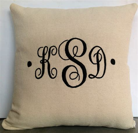 Monogrammed Pillows by Personalized Pillows For Wedding Bridesmaid Gift Ideas