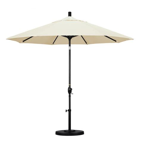 California Umbrella 9 Ft Aluminum Push Tilt Patio Canvas Patio Umbrella