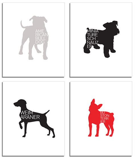 design milk dog modern typographic dog breed posters from petswag dog milk