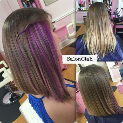 25 best ideas about purple peekaboo highlights on