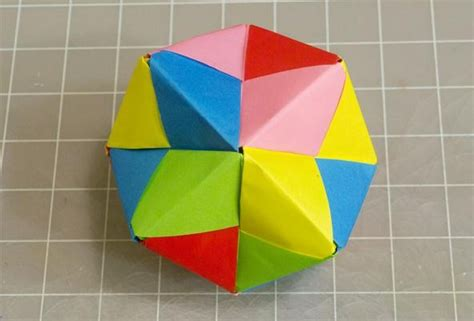 How To Make Origami Out Of Sticky Notes - modular origami how to make a cube octahedron
