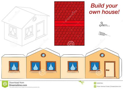 build your house plantilla de la casa ilustraci 243 n vector imagen