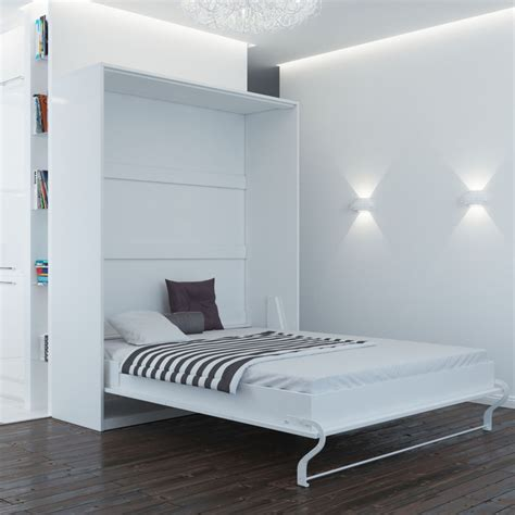white murphy bed murphy bed 160 cm vertical white smart bed foldaway wall