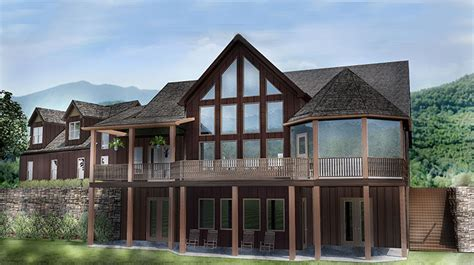home plans with walkout basements open house plan with 3 car garage appalachia mountain ii