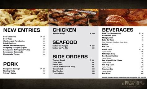 design menu steak graphic design by joseph david gutierrez at coroflot com